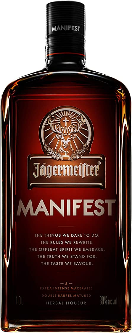Jägermeister manifest liquore a base di erbe con note di anice, frutta secca e quercia, 38% vol - 1l 426482