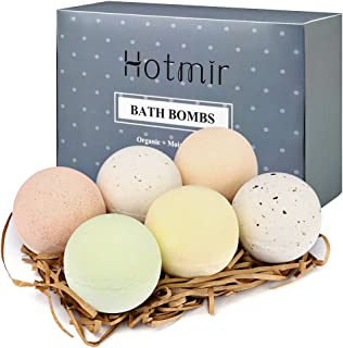 Bath Bombs, Women Gift Ideas - Hotmir Birthday Gift for Women, Bubble Bath Set with Sugar Perfume for Birthday, Women, Mothers Day, Mom, Teen Girl, Kids - 6 Count