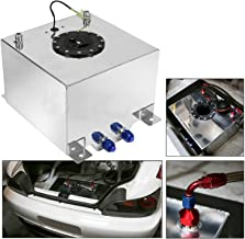 Sponsored Ad - EASYBERG 5 Gallon Aluminum Street/Drift/Strip/Racing Fuel Cell Black Gas Tank with Level Sender Silver Coated