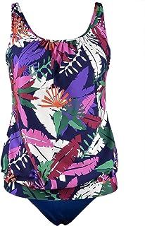 Women's Two piece Swimsuits Bandeau Blouson Tankini Set with Swim Brief by Hilor