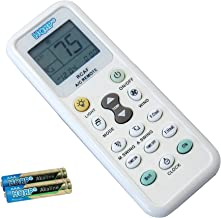 HQRP Universal A/C Remote Control compatible with GREE GUANGDA GUQIAO HAIER HELTON HEMILTON HICON HISENSE HITACHI Air Conditioner/Fahrenheit displaying