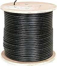 Vertical Cable Cat6, UTP, UV Jacket, Outdoor, CMX, Messenger, 1000ft, Black, Bulk Ethernet Cable, Wooden Spool