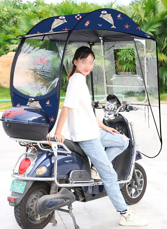 ZYQDRZ Toldo De Motocicleta Completamente Cerrado, Paraguas De Sombrero A Prueba De Viento De Scooter Eléctrico, Sombrilla Eficaz, Lluvia Y Viento