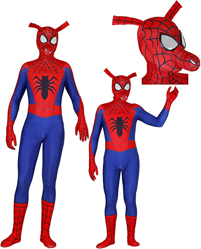 Unisex Halloween Superhero Cosplay Costume 3D Dye Sub Zentai Spandex Bodysuit Adult Kids