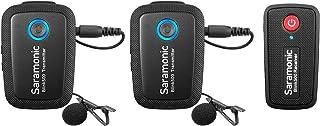 Saramonic Blink 500 Sistema de micrófono inalámbrico Ultra Compacto de 24 GHz de Doble Canal TX+TX+RX Compatible con cámaras Canon Nikon DSLR teléfonos sin Espejo entrevistas