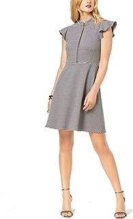 Rachel Zoe Womens Houndstooth Mini Wear to Work Dress B/W 10 Black/White