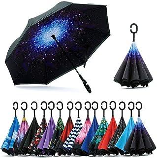 Jooayou Paraguas Invertido de Doble Capa,Paraguas Plegable