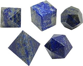 Harmonize 5 Pièces Lapiz Lazuli platonicienne Solide Reiki sacré de guérison de Cristal d'équilibrage
