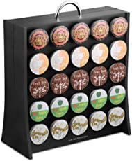 "Mind Reader 50 Capacity Single Serve Coffee Pod Portable Holder Storage Organizer, Black, 5.20"" (L) x 12.68"" (W) x 14.48"" (H)"