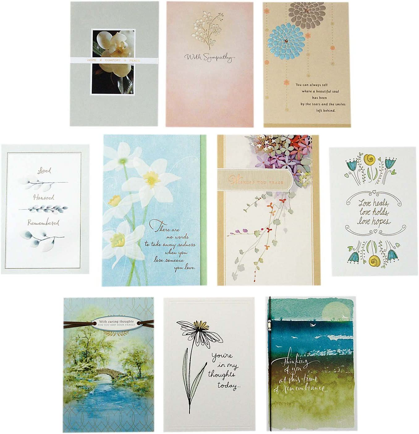 Hallmark Sympathy Greeting Card 10 Envelop Raleigh Mall Ranking TOP5 Assortment Cards