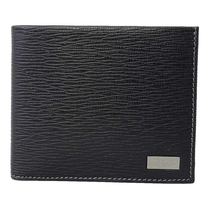 献身過去主張する(フェラガモ)ferragamo 財布 二つ折り小銭入れ付 メンズ ブラックx内側レッド 66-7070 並行輸入品