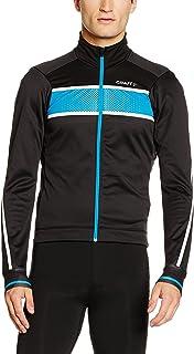 Craft 男式 Glow 保暖防风骑行夹克 抓绒夹克(适用-5°到10°) 1903670-9661-4 黑色/水蓝 S