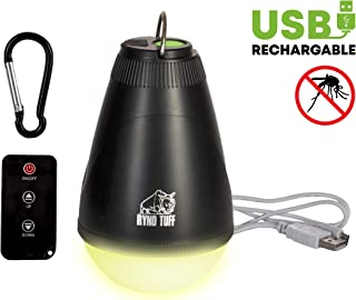 Ryno Tuff Camping Lights - Tent Light with Remote Control, USB Rechargeable Ultra Bright LED Lamp with Mosquito Repellent ...