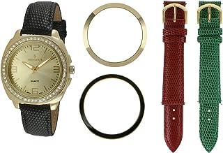 طقم ساعة بيجو للنساء مطلية بالذهب 14 قيراط 9 في 1 قابلة للتبديل 678