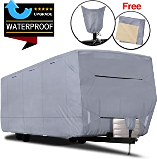 RVMasking Upgraded Waterproof Travel Trailer RV Cover, Fits 22'1