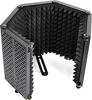"""Moman-RF30-Bouclier-d'isolation-de-Microphone, Filtre de Réflexion du Micro avec Support de Filetage Micro 3/8 """" pour Enre..."""