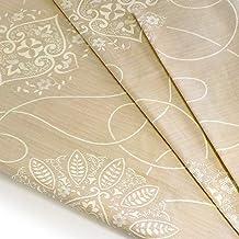 ぬくぬく屋 生地 布 レース柄 ベージュ 約110cm×約300cm 綿100% カットクロス 手芸 手作り ハンドメイド 日本製