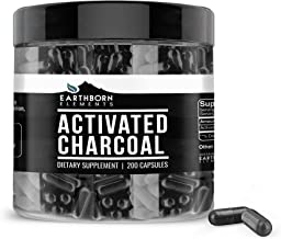 Activated Charcoal Capsules, 200 Capsules (525 MG per Serving) (33-Day Supply) by Earthborn Elements, Odorless & Non-Toxic...