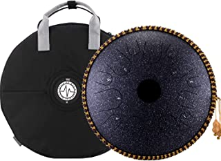 BeatRise Tongue Drum 14 Inch 14 Notes Steel Drum Handpan Professional Percussion Instrument Tank Drum with Travel Bag Rope...