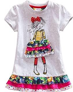 Toddler Girl Clothes Short Sleeve Summer Dresses for Girls Kids 2-8 Years