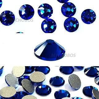 CAPRI BLUE (243) Swarovski NEW 2088 XIRIUS Rose 20ss 5mm flatback No-Hotfix rhinestones ss20 144 pcs (1 gross) *FREE Shipping from Mychobos (Crystal-Wholesale)*