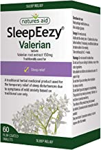 Natures Aid SleepEezy Valerian Root Extract, Relief of Sleep Disturbances, Vegan, 60 Tablets