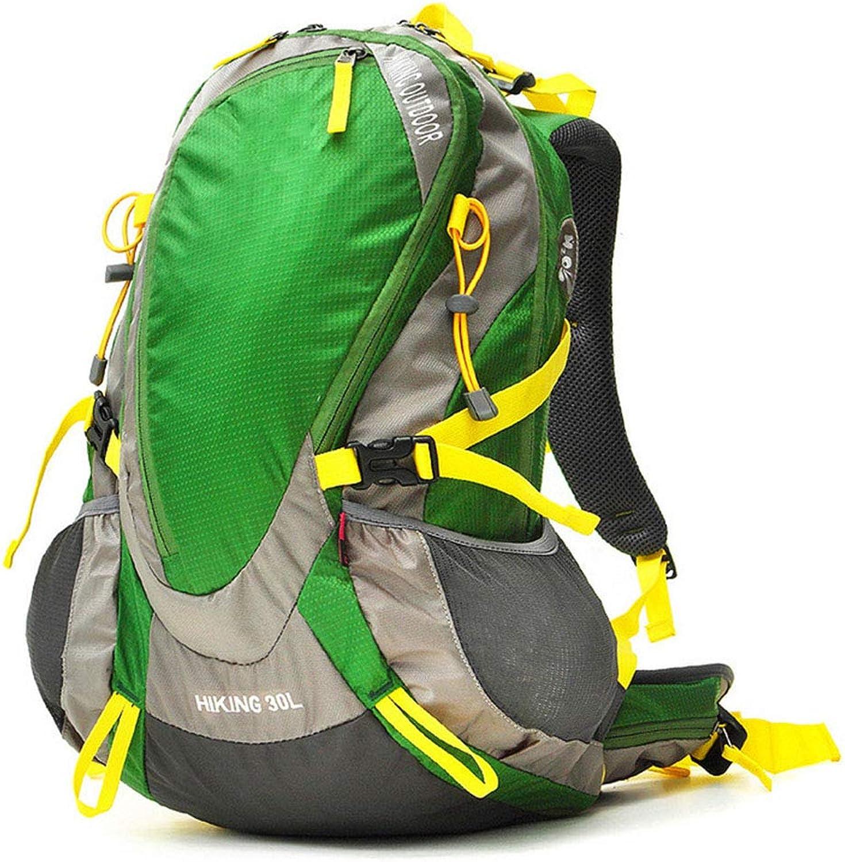 HWYD Outdoor Rucksack Leichte Wasserdichte Camping Geeignet für Menand Frauen Reisen Skifahren Klettern Trekking Bergsteigen,Grün