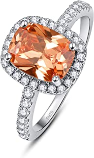 PAKULA 925 Sterling Silver Women Simulated Multicoloered Gemstone Ring Band Mystic Fire Rainbow Topaz Cubic Zirconia Halo ...