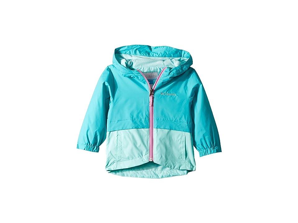 Columbia Kids Rain-Zillatm Jacket (Toddler) (Geyser/Gulf Stream/Orchid) Girl
