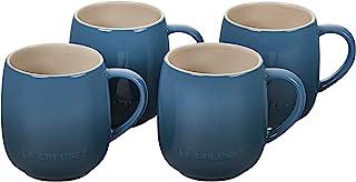 Le Creuset Stoneware Set of 4 Heritage Mugs, 13 oz. each, Deep Teal