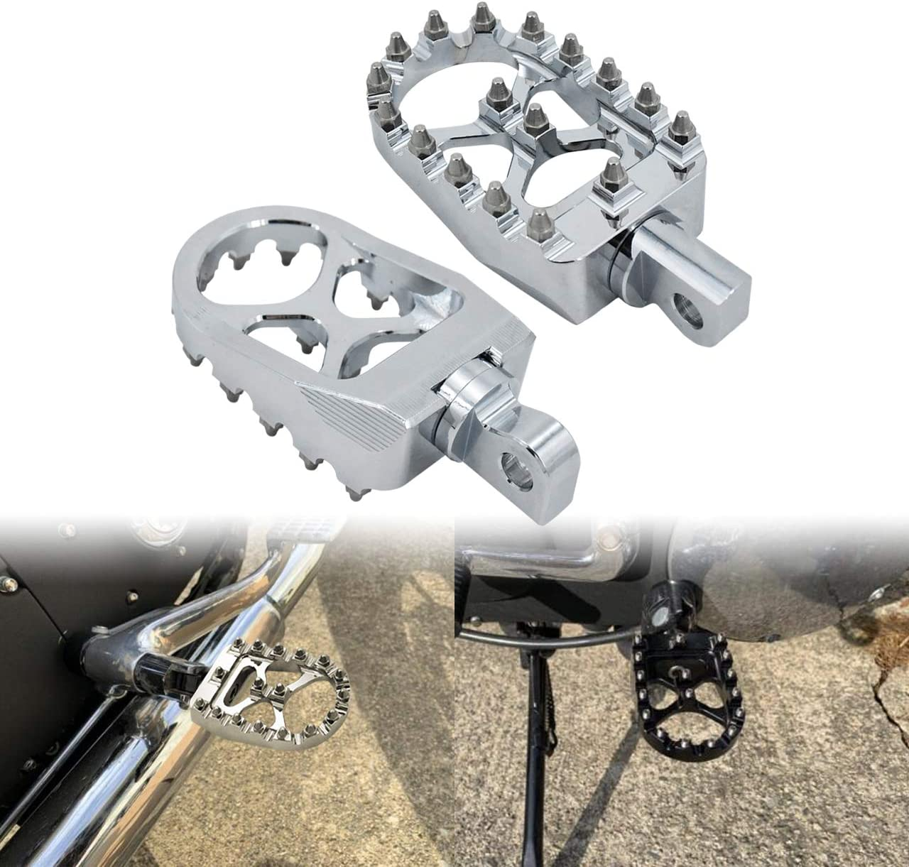 YHMTIVTU CNC Wide Foot Max 52% OFF Pegs At the price 360° Pe Roating Aluminum Footpegs