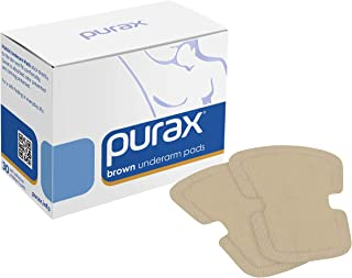 PURAX Underarm Pads - Underarm Sweat Shields 30pcs brown