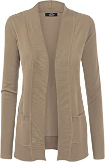 Made By Johnny MBJ Womens Open Front Draped Knit Shawl Cardigan