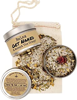 Malicious Women Candle Co - Get Naked & Accept The Crazy - Herbal Bath Salts & Tealights Gift Set