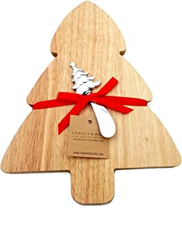 ReLIVE Wooden Tree Shaped Cutting Board with Spreader 8.5