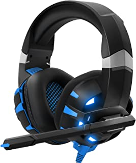 DIOWING Gaming Headset Stereo PS4 Headset,Professional Gaming Headphones with Mic, LED Light, Noise Cancelling for PS4,PS5...