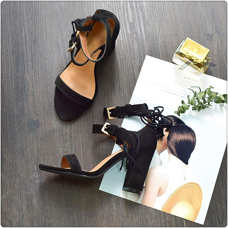 ANGERT& New Tassel Gladiator Sandals Women shoes Buckle Strap Sandals Women High Heels