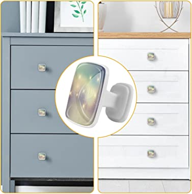 Square Drawer Handle (4 pcs) Retro Stars Background Size: 1.18x0.82x0.78 inch Dresser Furniture Kitchen Closet Handle Drawer