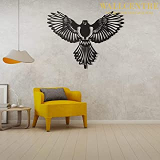 WALLCENTRE ART BEYOND IMAGINATION Metal Eagle Wall Art - Hanging Showpiece for Living Room, Decorative Walls (Black, Size:...