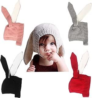 xsby Baby Kids Boy Girl Knitted Crochet Rabbit Ear Beanie Winter Warm Hat Cap