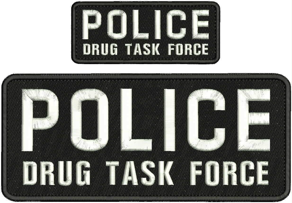Police Drug Task Force Embroidery Patches 4X10 B Ranking TOP15 2X5 with High quality new Hook