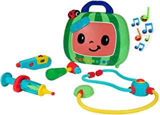 CoComelon Official Musical Checkup Case, Plays 'Doctor Checkup' song – Includes 4 Themed Medical Doctor Accessories (Therm...