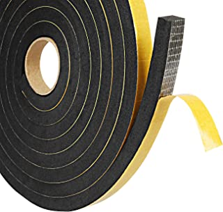 Window Weather Stripping,2 Pack 1/2in W X 3/8in T Window Seal Insulation,Thick Soundproof Foam Tape,Total 13ft Seal Strip for Window Ac Insulation
