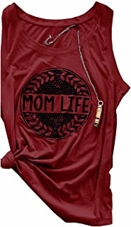 MACCHIASHINE Unique Sleeveless MOM Life Printed Shirt Womens Cotton Tank Tops
