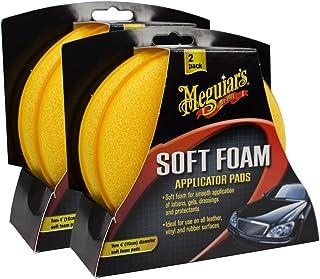 Meguiar's 2X MEGUIARS 650012 Soft Foam Applicator Pads Schaumstoff Auftragsschwamm 1 Stüc