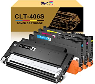 Best ONLYU Compatible Toner Cartridge Replacement for Samsung CLT-406S CLT-K406S CLT-C406S CLT-M406S CLT-Y406S for Samsung Xpress C460FW C460W C410W CLX-3305 (1Black,1Cyan,1Magenta,1Yellow) Reviews