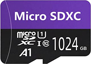 Geneircc Carte Micro SD haute vitesse Classe 10 256 Go//512 Go//1024 Go Carte Micro SD SDXC avec adaptateur gratuit 1024GB
