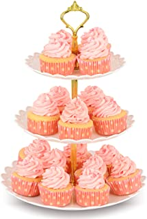 NWK 3-Tier Cupcake Stand Plastic Dessert Tower Serving Tray for Wedding Birthday Autumn..
