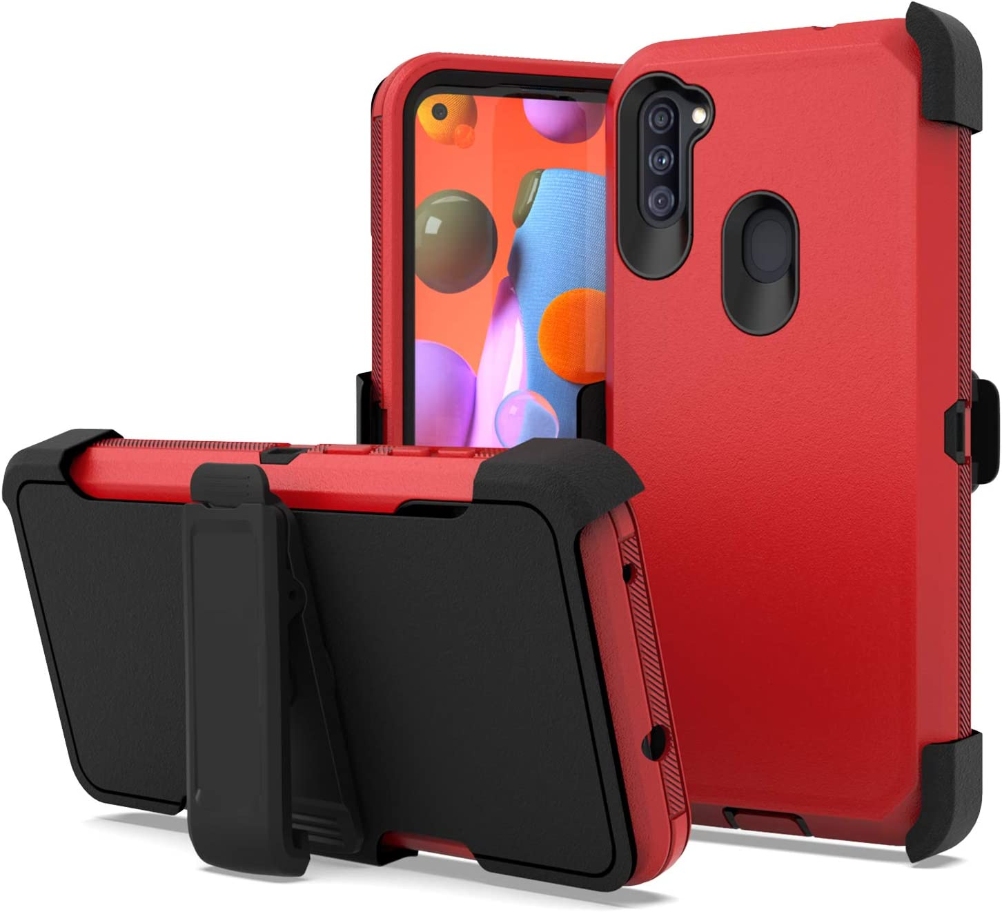 Fcclss Belt Clip Holster Cell Max 55% OFF Phone for Galaxy A11 Ranking integrated 1st place Case Samsung