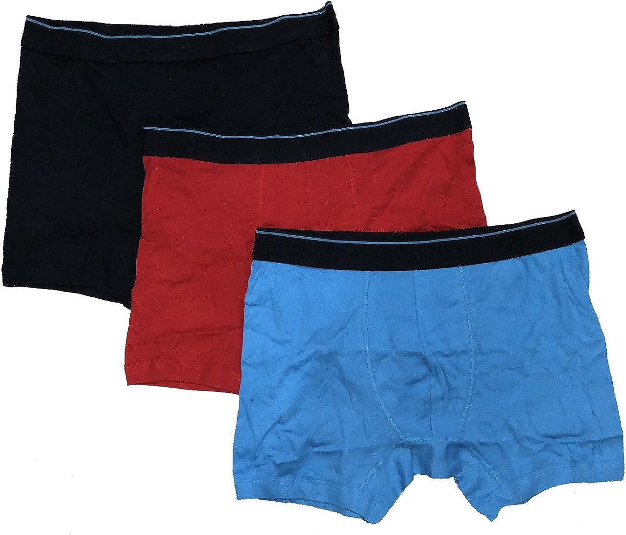 U.S. Polo Assn. Men's 3-Pack Stretch Trunks Cotton Boxer Briefs